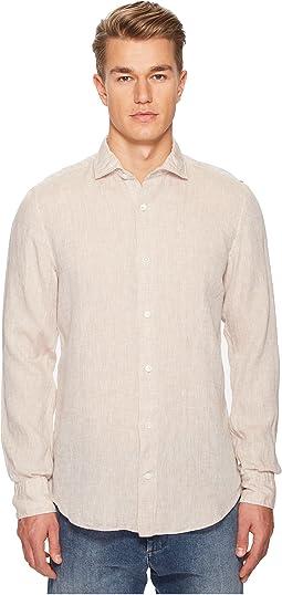 Linen Spread Collar Shirt