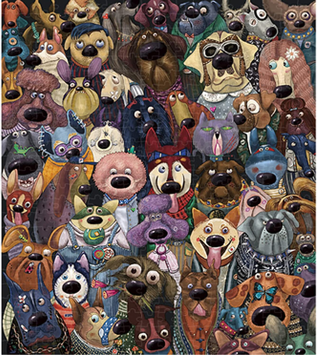 Dedication 1000 Pieces of Dogs store Group Photo Carto Jigsaw Puzzle Anime Wooden