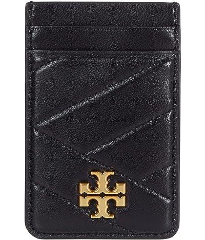 Tory Burch Kira Chevron Card Pocket (Black) Handbags