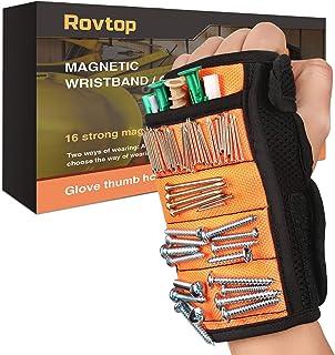 Rovtop Bracelet Magnétique Réglable avec 16 Aimants Puissants, Utilisés pour Fixer de Petites Pièces Telles que des Clous,...