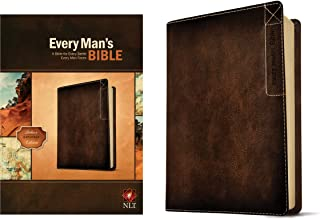 Every Man's Bible: New Living Translation, Deluxe Explorer Edition (LeatherLike, Brown) – Study Bible for Men with Study N...