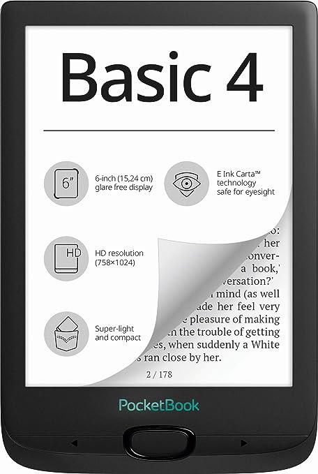 Amazon.nl-PocketBook PB606-E-WW Basic 4 eBook-Reader 15,2 cm (6 inch) Zwart-aanbieding
