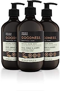 Baylis & Harding Goodness Oud, Cedar & Amber, 500ml Hand Wash, Pack of 3