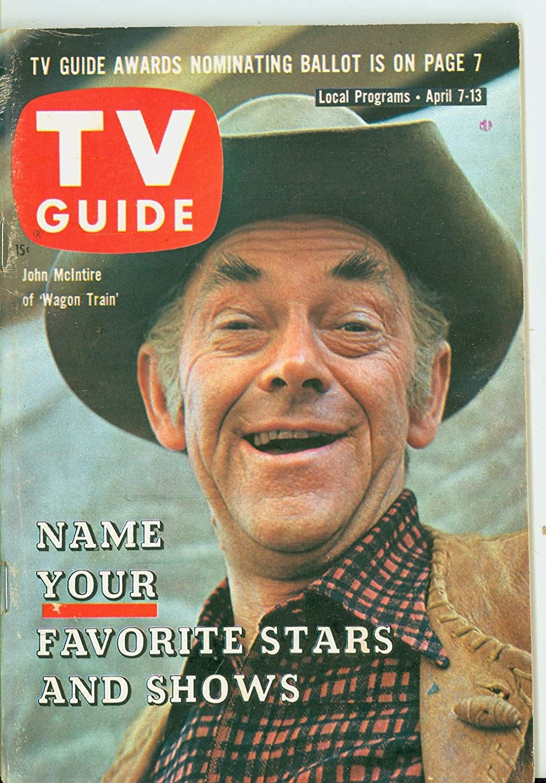 1962 TV Guide gift Apr 7 John McIntyre of Train - Gorgeous Wagon Kansas State