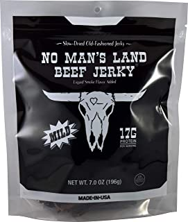 No Man's Land MILD Beef Jerky High Protein Low Calorie Low Carb Beef Snack 7.0oz Bag