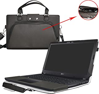 Aspire 3 15 Case,2 in 1 Accurately Designed Protective PU Leather Cover + Portable Carrying Bag for 15.6