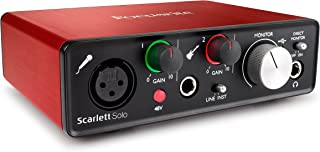 Focusrite Scarlett Solo (2nd Gen) USB Audio Interface with Pro Tools | First