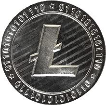 Moneda de coleccionista de Litecoin - Monedas no monetarias de regalo físico - Monedas chapadas en plata de Bitcoin