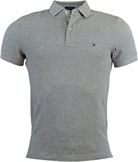 Tommy Hilfiger Mens Custom Fit Solid Color Polo Shirt - M - Gray