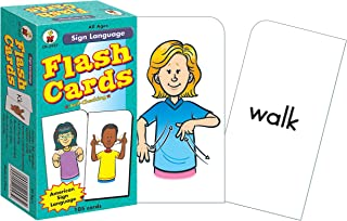 Carson Dellosa - American Sign Language Flash Cards - Learning to Sign for Babies, Toddlers, Kids , Adults and Beginners - All Ages