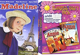 Madeline + Annie + Royal Adventure Girls Musical Triple Feature Movie Slumber Party set