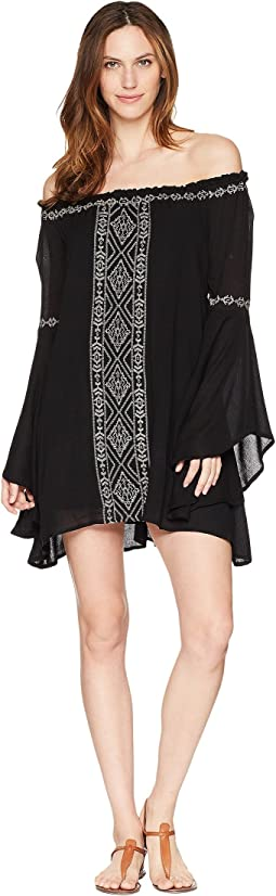 Rock and Roll Cowgirl Bell Sleeve Dress D4-5801