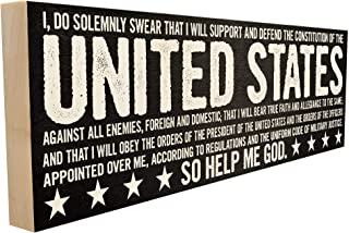 Oath of Enlistment. Hand-Crafted in Tennessee, This Custom Wood Block Sign Measures 4X12 Inches. an Authentic, American Ma...