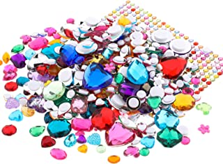 Richness Jewel Stickers Self Adhesive Jewels Kids DIY Gem Stickers Various of Sizes Shapes and Colors 600pcs