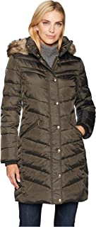 MICHAEL Michael Kors Womens Snap Front 3/4 Down with Hood M823172G