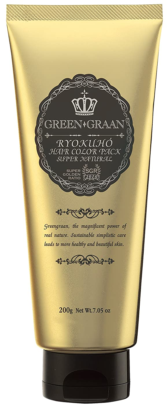 根拠チョーク論争的グリングラン 緑宝ヘアカラーパックSN(専用手袋付き)エスプレッソ 200g