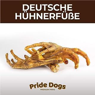 PrideDogs Hühnerfüße 500g der Premium Kausnack für Ihren Hund   100% Huhn aus Deutscher Herstellung   im geruchsneutralen Beutel   Kauartikel