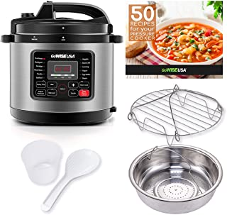GoWISE USA GW22712 12-in-1 Multi-Use Electric Pressure Cooker with Stainless Steel Pot..
