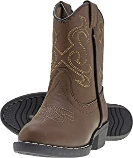 Canyon Trails Kids Cowboy Pointed Toe Western Rodeo Boots (Toddlers/Little Kid)