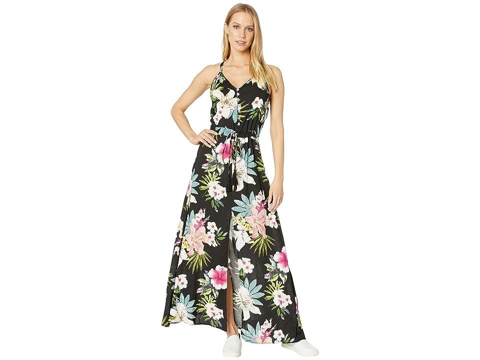 Rip Curl Sweet Aloha Maxi Dress (Black) Women