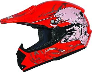 Kids Pro Kinder Crosshelm Rot Größe: S 55-56cm Kinderhelm Kinder Cross BMX MX Enduro Helm