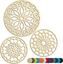 3 Set Silicone Trivet Mats With 1 Extra Large Included | Intricately Carved Insulated Flexible Durable Non Slip Thick Roun...