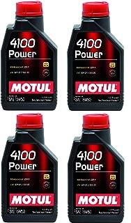 Motul 102773 Set of 4 4100 Power 15W-50 Motor Oil 1-Liter Bottles