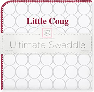 SwaddleDesigns Ultimate Winter Swaddle, X-Large Receiving Blanket, Made in USA, Premium Cotton Flannel, Washington State University, Little Coug (Mom's Choice Award Winner)