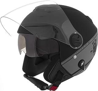 Pro Tork Capacete New Atomic Skull RideRosa Hd Fosco 58 Preto/Prata