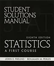 student Solutions Manual for Statistics: A First Course