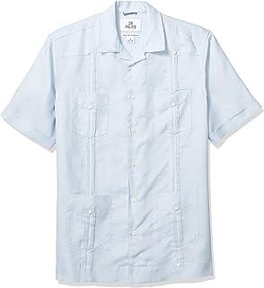Marca Amazon - 28 Palms – Camisa guayabera de 4 bolsillos