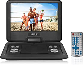 Pyle Portable DVD CD Player - 14 Inch High Resolution TFT Swivel Angle Foldable Display Screen Built-in Rechargeable Battery USB/SD Card Readers 32GB Memory & Multimedia Support w/ Remote Control - PDH14