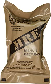 Beef Ravioli MRE Meal - Genuine US Military Surplus Inspection Date 2020 and Up