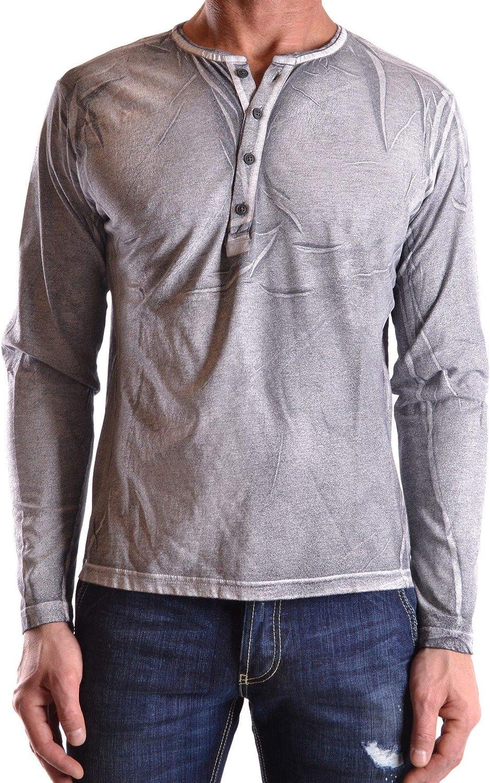 DANIELE ALESSANDRINI Men's MCBI22081 Grey Cotton Polo Shirt