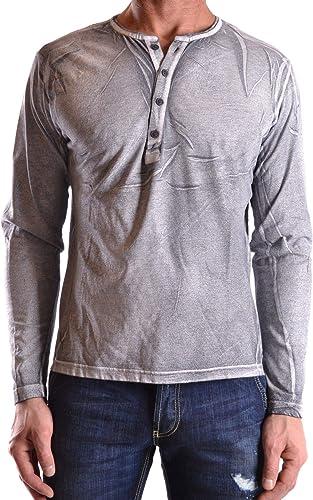 DANIELE ALESSANDRINI Homme MCBI22081 gris Coton Polo