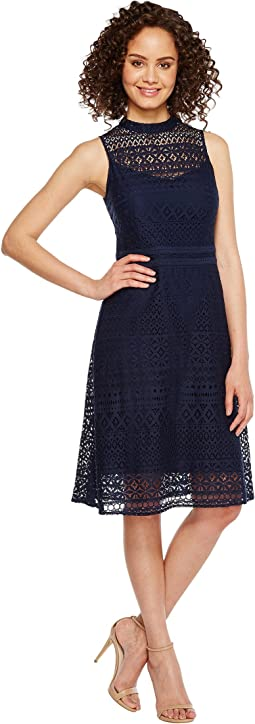Jessica Simpson - Geo Lace Mock Neck Dress JS7A9590