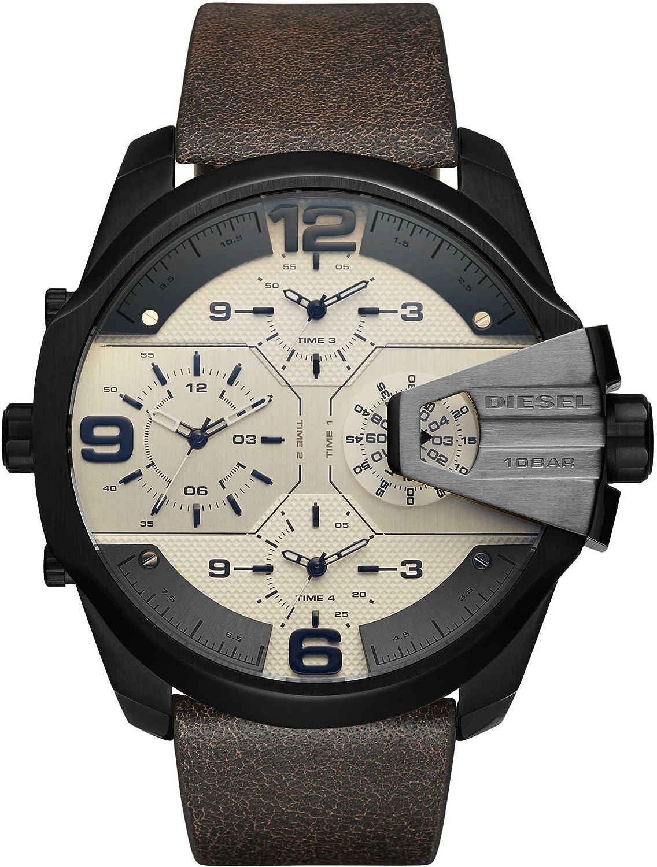 Diesel Reloj Analógico para Hombre de Cuarzo con Correa en Cuero DZ7391