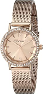 Caravelle New York Women's 44L158 Rose Gold-Tone Watch with Mesh Band