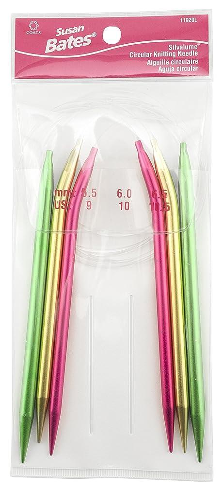 Susan Bates Silvalume Circular Knitting Needles 3/Pkg-Sizes 9, 10, 10.5,