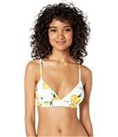Kate Spade New York - Lemon Beach French Bikini Top w/ Removable Soft Cups