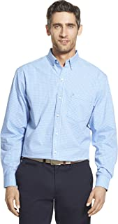 Men's Button Down Long Sleeve Stretch Performance Gingham...