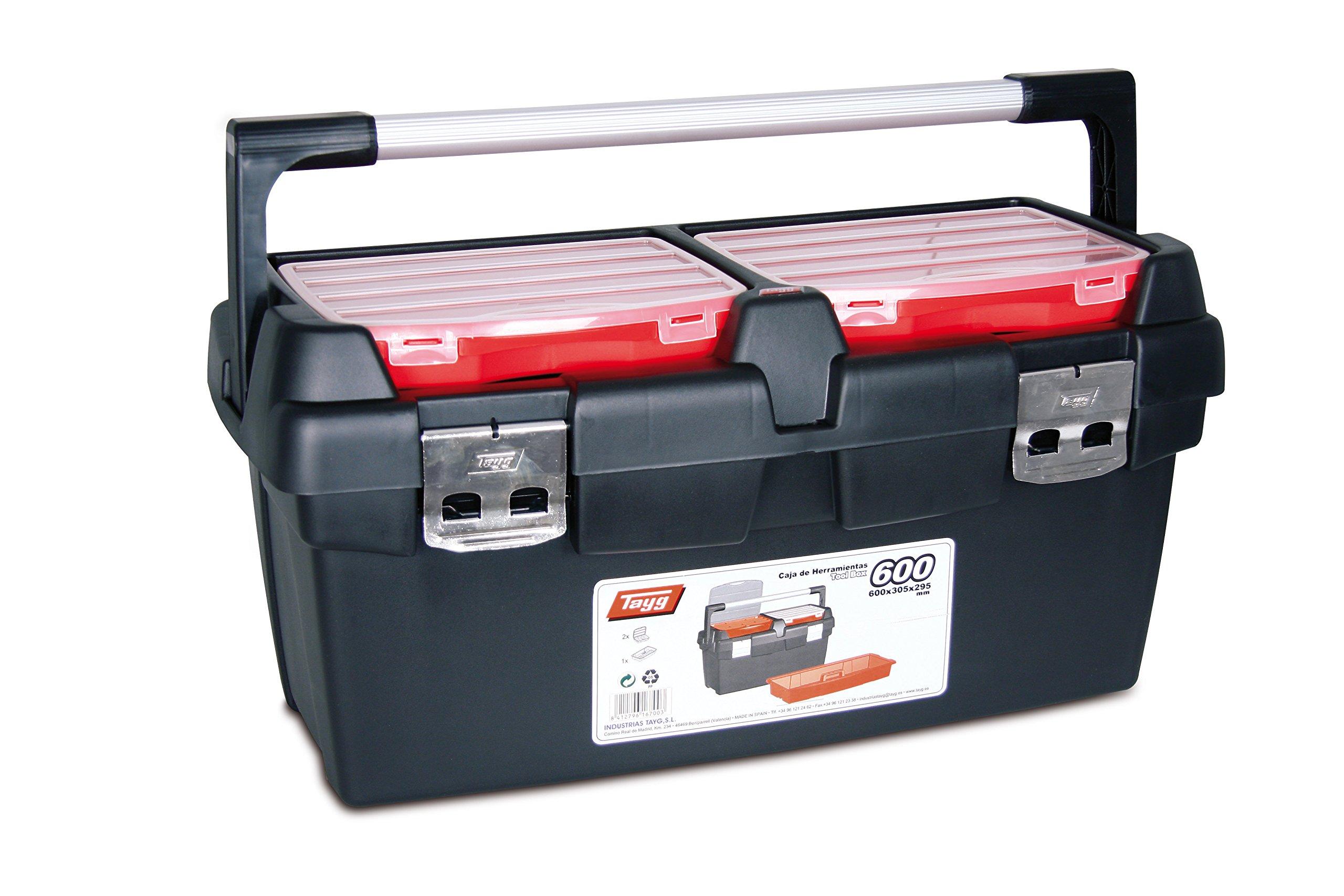 Tayg Caja herramientas plástico aluminio n. 600, negro, 600 x 305 ...