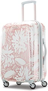 American Tourister Moonlight Hardside Expandable Carry on Luggage with Spinner Wheels, 21 Inch, Ascending Garden Rose Gold (Pink) - 92504