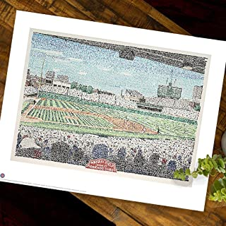 Wrigley Field - Chicago Cubs All Time Roster Wall Art Print - Cubs Poster - Chicago Decor - Fly the W - 16