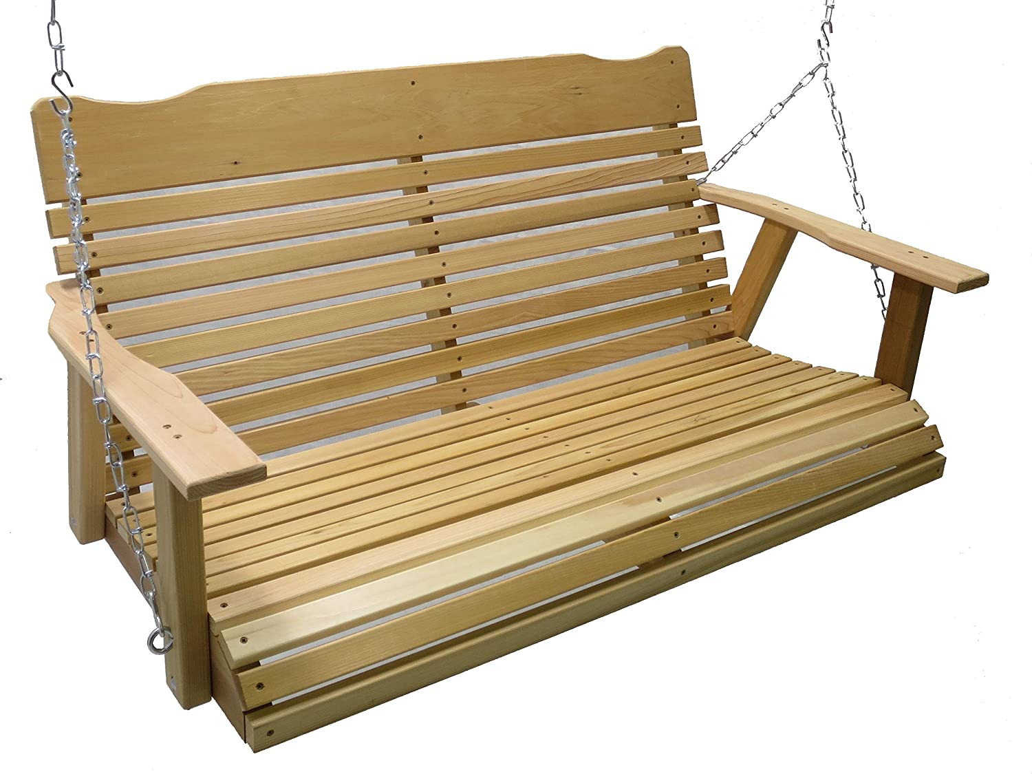 Kilmer Creek Oakland Mall New mail order 4 Foot Natural Cedar Spring Chain with Porch Swing