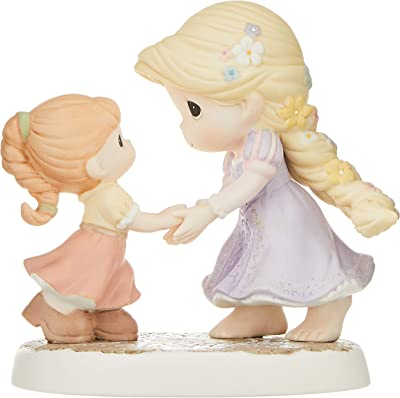 Precious Moments, Disney Showcase Collection, We Go Hand-In-Hand Bisque Porcelain Figurine, 154012 , White