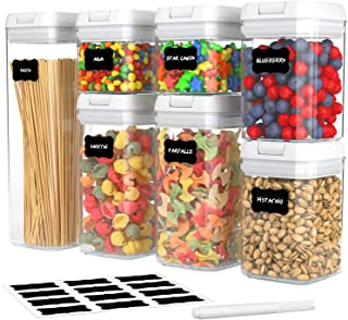 Airtight Food Storage Container Set, Kitchen and Pantry Containers, BPA Free Containers, Keep Food Fresh, Dry and Organize...
