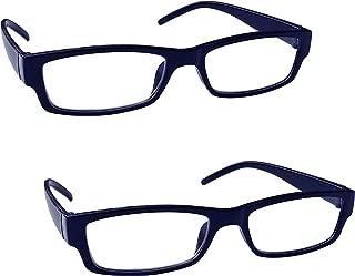 La Compañía Gafas De Lectura Azul Negro Ligero Cómodo Lectores Valor Pack 2 Hombres Mujeres RR32-3 Dioptria +2,00