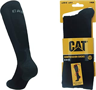 Caterpillar 1 Par de Calcetines largos CAT hombre con compresión graduada, mejoran la circulación sanguínea, recuperación muscular rápida