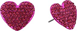 Fuchsia Heart Stud Earrings